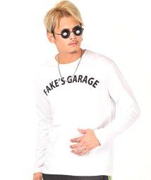 LUXSTYLE/バックモチーフプリントロンT/ロンT メンズ 長袖Tシャツ バックプリント ロゴ/502738898