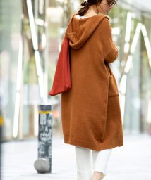 marjour/HOODED KNIT CARDIGAN/502741303