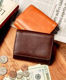 Add+/アッド Add+ 本革 クラシックレザー 三つ折り ミニ財布 コンパクト財布 (ダークブラウン)/502742897