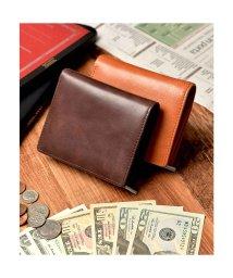 Add+/アッド Add+ 本革 クラシックレザー 二つ折り財布 コンパクト財布 (ダークブラウン)/502742900