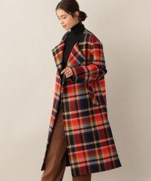 SANYO COAT/シェットランドウールノーカラーラップコート/502629989