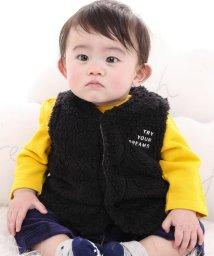 e-baby/ボアロゴ刺繍ベスト/502634014
