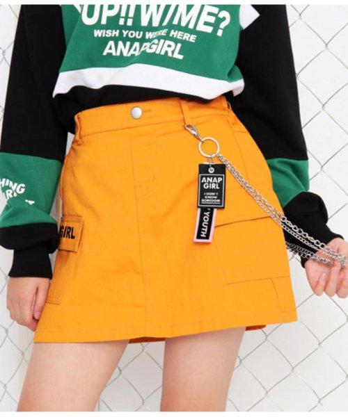 ANAP GiRL(アナップガール)/チェーン付カーゴスカート/2019200026