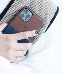 kajsa/〈Kajsa/カイサ〉Denim Pocket Backcase for iPhone11Pro・iPhone11Pro MAX/デニムポケット バックケース/502719778