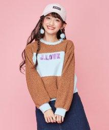 JENNI love/ボア切替えトレーナー/502743300