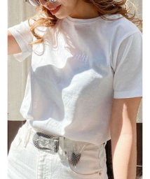 EVRIS/シルケットEmbroidery Tシャツ/502744356