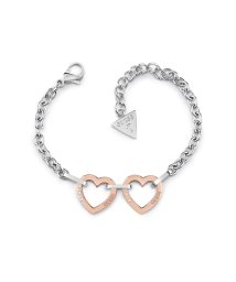 GUESS/ゲス GUESS HEARTED CHAIN CHAIN&TWO HEARTS BRACELET (SILVER/ROSE GOLD) (SILVER & RO/502745839