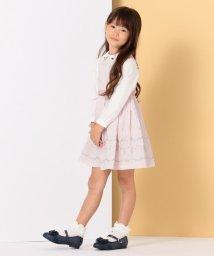 KUMIKYOKU KIDS/【ひなちゃん着用/110-140cm】グログランアーチフラワー刺繍 ワンピース/502746459