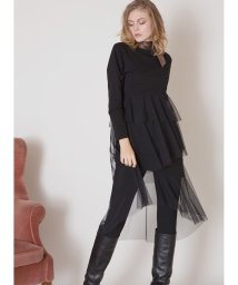 MIELIINVARIANT/Long Tiered Mixture Dress/502746670