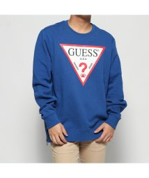 GUESS/ゲス GUESS ROY TRIANGLE LOGO PULLOVER SWEAT (RICH SAPPHIRE HEATHER)/502747612
