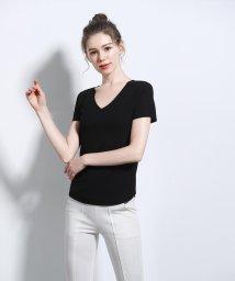 ALWAYS/シームレスインナー[AIR COOL] Vネック リブ半袖Tシャツ/502746639