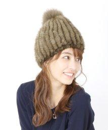 sankyoshokai/ミンクファーニット帽/502746644