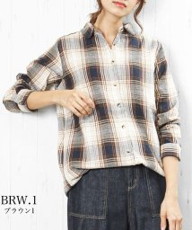 mili an deni/レディース トップス 選べる16種類 カジュアル チェックシャツ チュニック丈 ブラウス/502749884