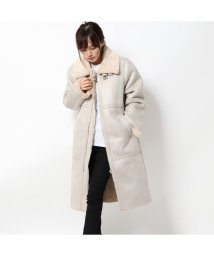 GUESS/ゲス GUESS DOUBLE FACED LONG JACKET (LIGHT BEIGE)/502749949