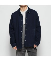 GUESS/ゲス GUESS BACK LOGO PRINT COACH JACKET (NAVYSM CLEAN)/502751546