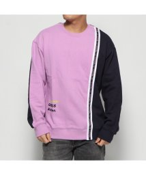 GUESS/ゲス GUESS LOGO COLOR-BLOCK SWEAT (LAVENDER)/502751549