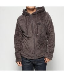 GUESS/ゲス GUESS FLEECE HOODED FULL ZIP-UP PARKA (CHARCOAL GREY)/502751550