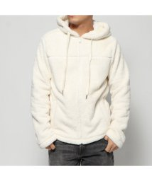 GUESS/ゲス GUESS FLEECE HOODED FULL ZIP-UP PARKA (IVORY)/502751551