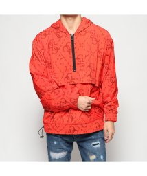 GUESS/ゲス GUESS QUATTRO G NYLON WINDBREAKER (TONAL QUATTRO G ROCKER RED)/502751565