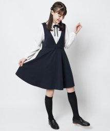 KUMIKYOKU KIDS/【150-170cm】グログラン ジャンパースカート/502752012