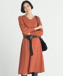JIYU-KU /【洗える】フレアー ニットワンピース/502752016