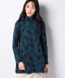 Leilian/パッチワーク風チュニックセーター/502692193