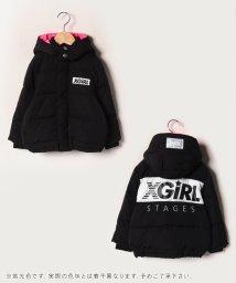 X-girl Stages/バックロゴ切替中綿ジャケット/502713819