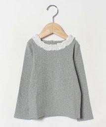 b-ROOM/衿フリルつきTシャツ/502725735