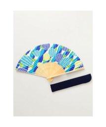 KAYA/【カヤ】和の香り 丸菊紙扇子 袋付き ブルー/502275631