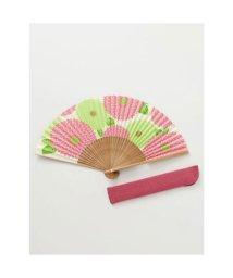 KAYA/【カヤ】和の香り 菊紙扇子 袋付き ピンク/502275638