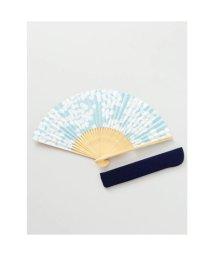 KAYA/【カヤ】和の香り 藤の花紙扇子 袋付き ライトブルー/502275641