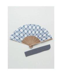 KAYA/【カヤ】和の香り 菱文様紙扇子 袋付き ホワイト/502275648