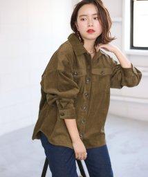 Bou Jeloud/太コールオーバーサイズシャツ/502695114