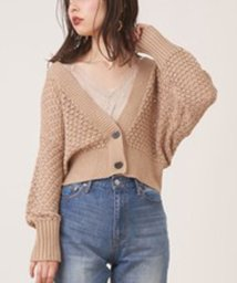NICE CLAUP OUTLET/【every very nice claup】テープヤーンざっくりメッシュショートカーディガ/502742757