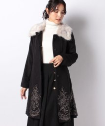 axes femme/裾刺繍2wayコート/502749977