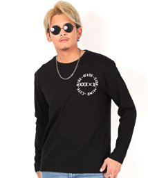 LUXSTYLE/バックランダムプリントロンT/ロンT メンズ 長袖Tシャツ バックプリント ロゴ/502750928