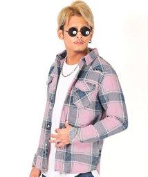 LUXSTYLE/インディゴチェックシャツ/シャツ メンズ チェックシャツ 長袖 インディゴ ウエスタン/502750930
