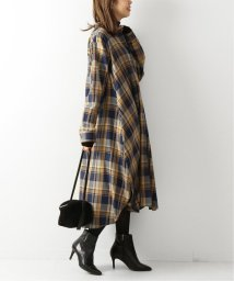 Spick & Span/タータンチェックフレアシャツワンピ◆/502753637