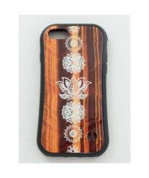 CAYHANE/【チャイハネ】iPhone8/7兼用ガラス製スマホケース ロータス ブラウン/502755954