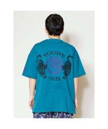 CAYHANE/【チャイハネ】タイガービックシルエットメンズTシャツ ブルー/502756619
