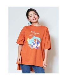 CAYHANE/【チャイハネ】キャンピング ビッグシルエットTシャツ オレンジ/502759248
