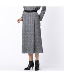 Liliane Burty/グレンチェック オールゴムスカート【セットアップ対応】/502759656