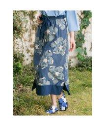 KAYA/【カヤ】藍色ならいスカート ブルー/502762863