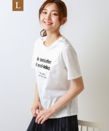 TRANS WORK( L)/【L】【ウォッシャブル】シルケットコットンスムースカットソー/502764003