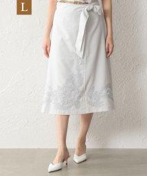 TRANS WORK( L)/【L】【ウォッシャブル】ダルスラブ刺繍スカート/502764161