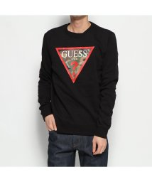 GUESS/ゲス GUESS CAMO TRIANGLE LOGO SWEAT (JET BLACK)/502764612