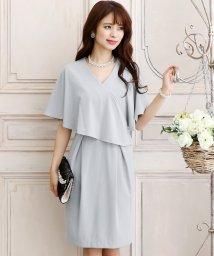 PourVous/ケープデザインドレス・結婚式・お呼ばれワンピース・パーティードレス/502709750