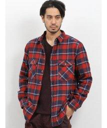 TAKA-Q/裏ボアフリース ネルチェックシャツ/502750111
