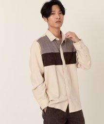 coen/ニット切替レギュラーシャツ/502752803