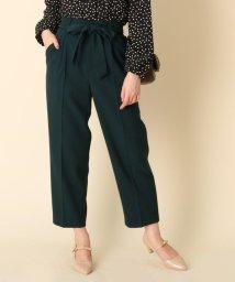 Couture Brooch/【WEB限定プライス/手洗い可】リボンツイルテーパードパンツ/502770033